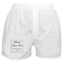 Shar Pei Pawprints Boxer Shorts