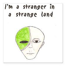 """Stranger Square Car Magnet 3"""" x 3"""""""