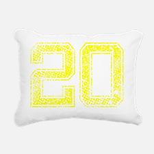 20, Yellow, Vintage Rectangular Canvas Pillow