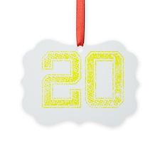 20, Yellow, Vintage Ornament
