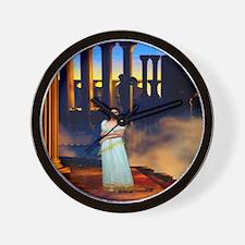 Goddess Athena in Ancient Greece Wall Clock