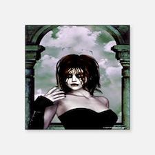 "Gothic Princess Square Sticker 3"" x 3"""