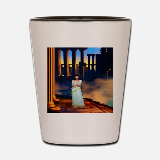 Goddess Athena in Ancient Greece Shot Glass
