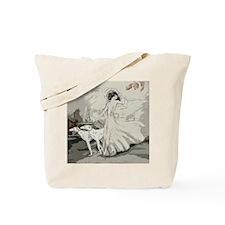 Art Deco Lady And Borzoi Tote Bag