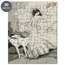 Art Deco Lady And Borzoi Puzzle