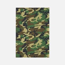 Woodland Camo Clipboard Rectangle Magnet
