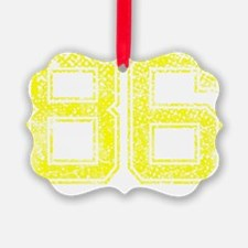 86, Yellow, Vintage Ornament