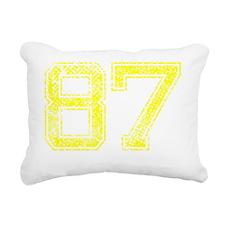87, Yellow, Vintage Rectangular Canvas Pillow