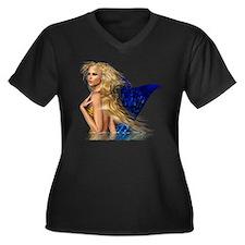 The Mermaid Women's Plus Size Dark V-Neck T-Shirt