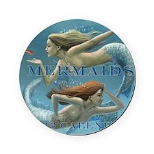 Mermaids Calendar 2013 uncovered Cork Coaster