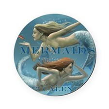 Mermaids Calendar 2013 uncovered Round Coaster