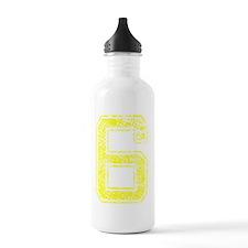 6, Yellow, Vintage Water Bottle