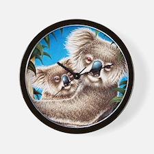Queen Duvet Koalas Wall Clock