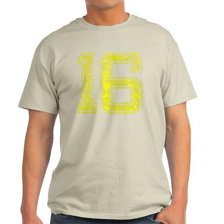 16, Yellow, Vintage Light T-Shirt