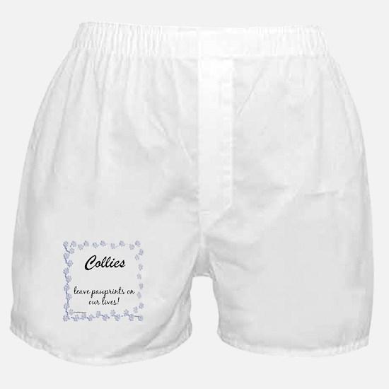 Collie Pawprints Boxer Shorts