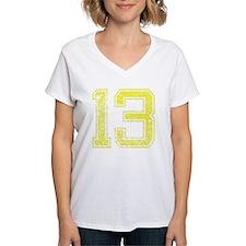 13, Yellow, Vintage Shirt