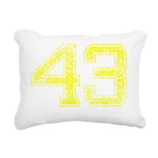 43, Yellow, Vintage Rectangular Canvas Pillow