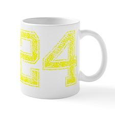 24, Yellow, Vintage Mug