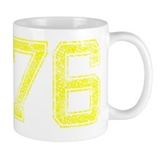 76, Yellow, Vintage Mug