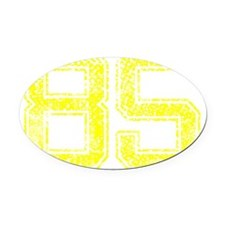 85, Yellow, Vintage Oval Car Magnet