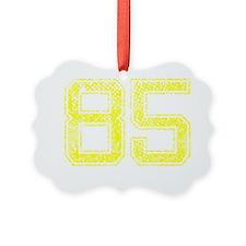 85, Yellow, Vintage Ornament