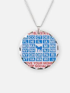 Boycott Blue States Necklace