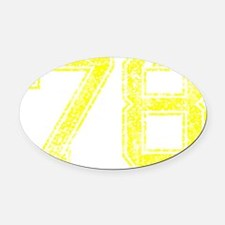 78, Yellow, Vintage Oval Car Magnet