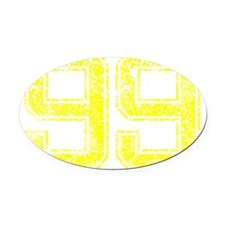 99, Yellow, Vintage Oval Car Magnet