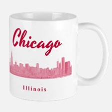 Chicago_12x12_Skyline_Red Mug
