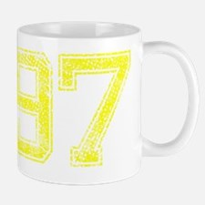 97, Yellow, Vintage Mug