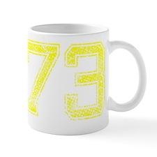 73, Yellow, Vintage Mug