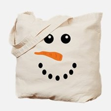 Snowman Face Tote Bag