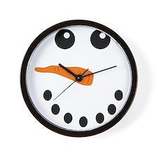 Snowman Face Wall Clock