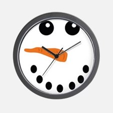 Snowman Face Wall Clock
