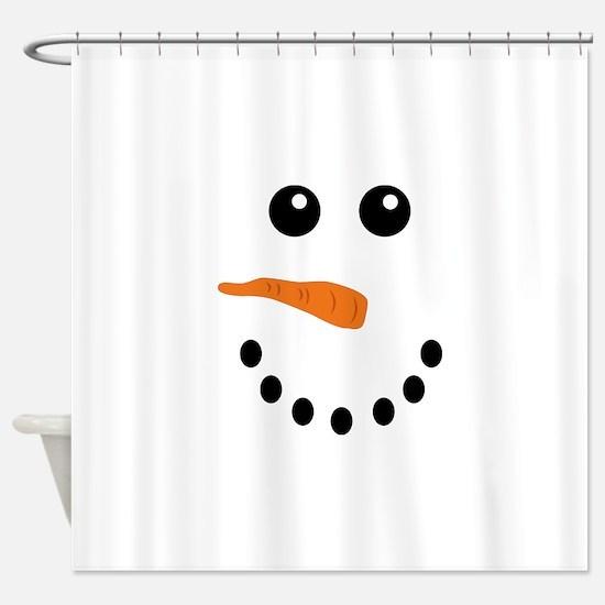 Snowman Face Shower Curtain