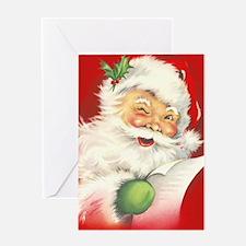 Santa Vintage Greeting Card