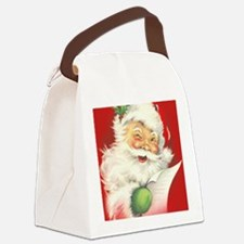 Santa Vintage Canvas Lunch Bag