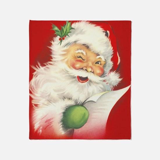 Santa Vintage Throw Blanket