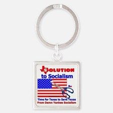 Solution to Socialism Square Keychain