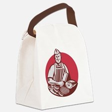 Butcher Cutter Worker Meat Cleave Canvas Lunch Bag