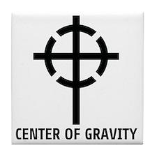center of gravity cross Tile Coaster