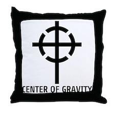 center of gravity cross Throw Pillow