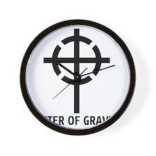 center of gravity cross Wall Clock
