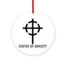 center of gravity cross Round Ornament