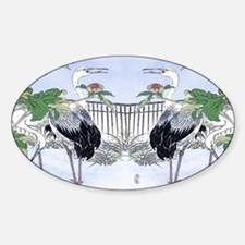Rect Cocktail Tray-Cranes-Peonie Sticker (Oval)