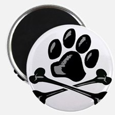 paw and crossbones Magnet