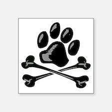 "paw and crossbones Square Sticker 3"" x 3"""