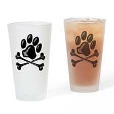 paw and crossbones Drinking Glass