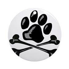 paw and crossbones Round Ornament