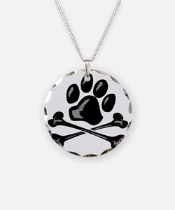 paw and crossbones Necklace